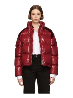 Moncler Genius 2 moncler 1952 red chouette down jacket