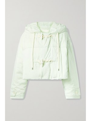 Moncler Genius + 2 moncler 1952 whitepearl hooded washed silk-blend shell down jacket