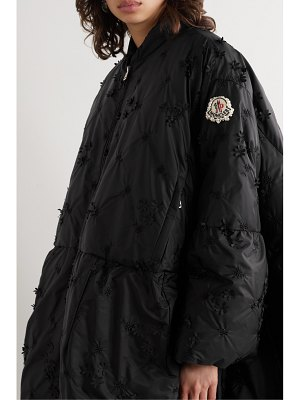 Moncler Genius 4 simone rocha alpinia appliquéd embroidered quilted shell down coat