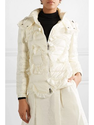 Moncler Genius 4 simone rocha embellished ruffled quilted shell down jacket