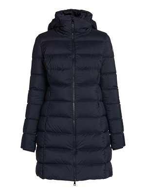Moncler gie stretch nylon down hooded puffer coat
