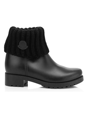 Moncler ginette rib-knit boots