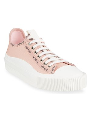 Moncler Glisserie Logo Canvas Low-Top Sneakers