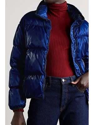 Moncler grenit metallic quilted shell down jacket