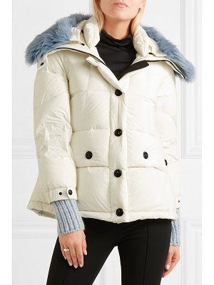 Moncler Grenoble carezza shearling-trimmed quilted down jacket