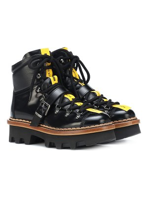 Moncler Grenoble Leather ankle boots