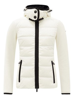 Moncler Grenoble logo-patch jersey-sleeves quilted down jacket