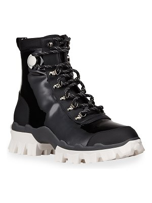 Moncler Helis Leather Lace-Up Hiking Boots
