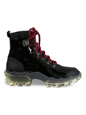 Moncler helis patent leather hiking boots