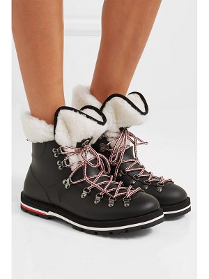 Moncler inaya shearling-trimmed rubber ankle boots