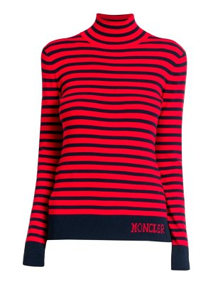 Moncler lupetto striped tricot turtleneck