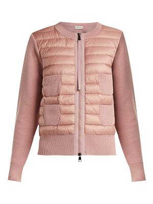 Moncler Maglione wool and quilted shell jacket