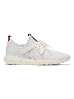 Moncler meline mesh and leather low top trainers