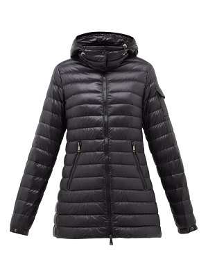 Moncler menthe quilted-down hooded jacket