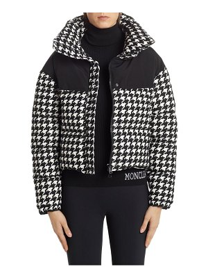 Moncler nil houndstooth quilted down jacket