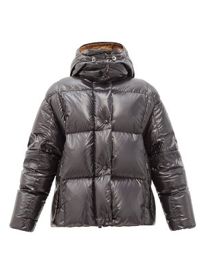 Moncler parana hooded down-filled laqué jacket