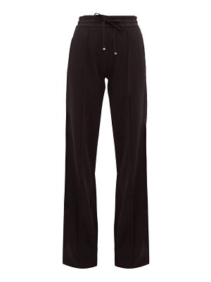 Moncler pintuck-pleat cotton-jersey wide-leg trousers
