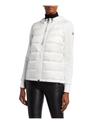 Moncler Puffer-Front Cardigan