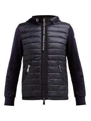 Moncler quilted down and cotton jersey jacket