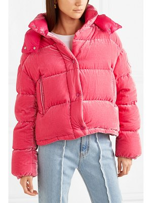 Moncler quilted velvet down jacket