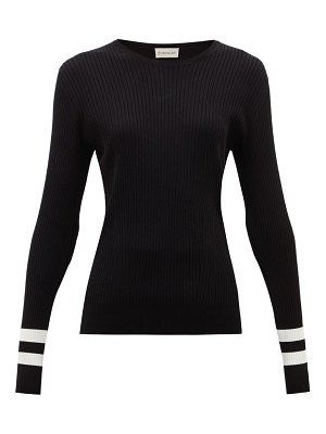 Moncler ribbed intarsia-knitted sweater