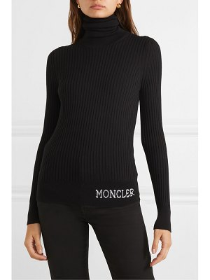 Moncler ribbed wool turtleneck top