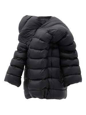 MONCLER + RICK OWENS hikoville asymmetric quilted down coat