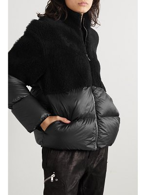 MONCLER + RICK OWENS moncler rick owens - coyote shearling and quilted shell down jacket