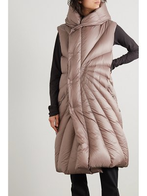 MONCLER + RICK OWENS moncler rick owens - porterville hooded quilted shell down vest