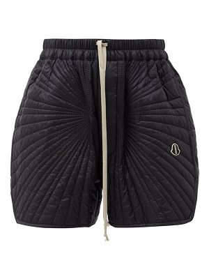 MONCLER + RICK OWENS radiance drawstring quilted down shorts