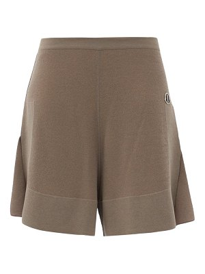 MONCLER + RICK OWENS sisy high-rise knitted shorts