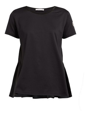 Moncler ruched shell and jersey t shirt