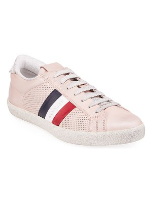 Moncler Ryegrass Leather Logo Stripe Sneakers