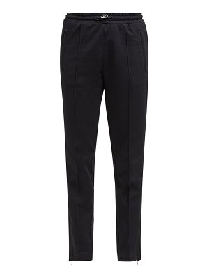 Moncler side-stripe cotton-jersey track pants