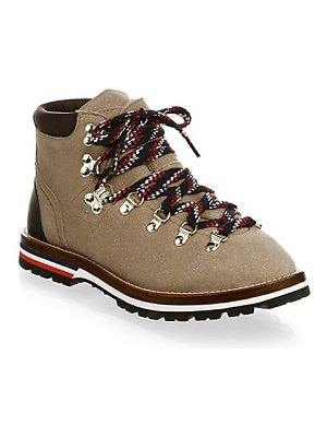 Moncler sparkle suede ankle hiking boots