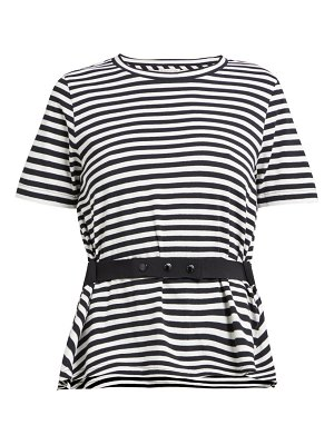 Moncler striped peplum jersey t shirt