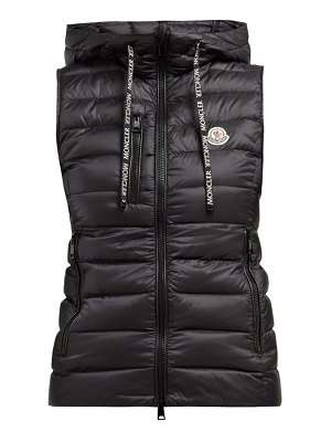 Moncler sucrette hooded quilted down gilet