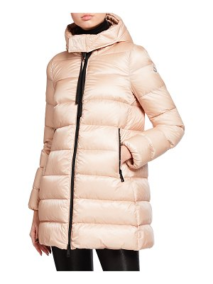 Moncler Suyen Down Quilted Nylon Hooded Parka