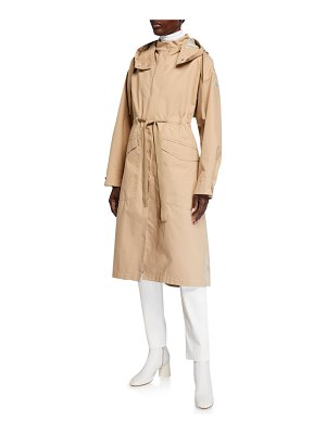 Moncler Waterproof Drawstring Trench Coat