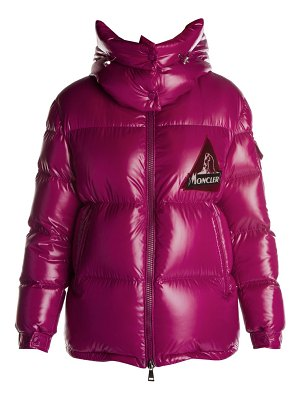 Moncler wilson heritage logo lacquer puffer jacket