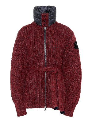 Moncler wool and alpaca-blend cardigan