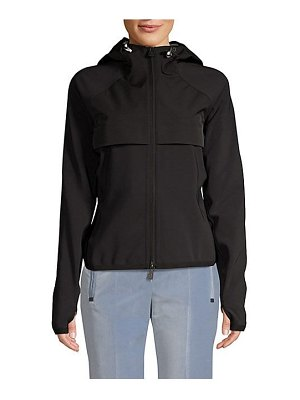 Moncler zip-up hooded jacket