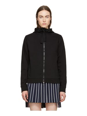 Moncler black zip-up hoodie