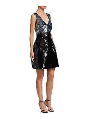 Monique Lhuillier Bridesmaids sequin a-line dress
