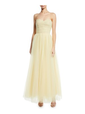 Monique Lhuillier Bridesmaids Strapless Sweetheart Tulle Gown