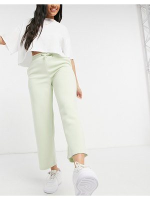 Monki kajsa organic cotton pants in green