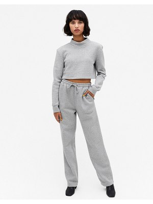 Monki kala organic cotton sweatpants in gray-grey