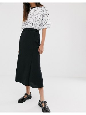 Monki midi skirt in black