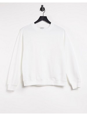 Monki nana organic cotton sweatshirt in off white