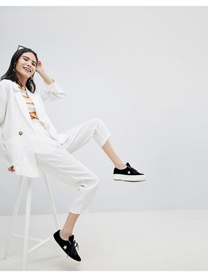 Monki Tie Waist Peg Leg Pants
